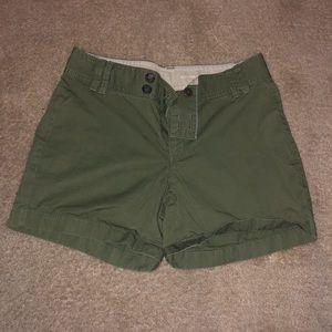 BR green khaki shorts